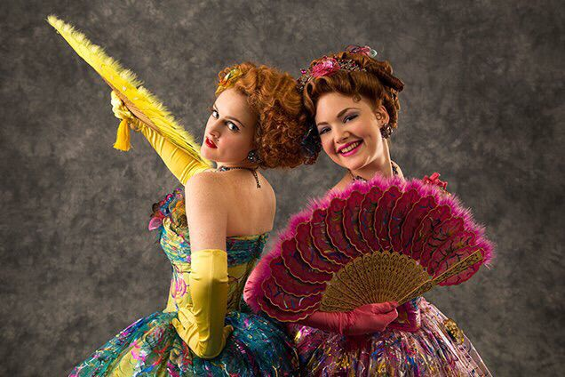 Cinderella 2015 - Stepsisters Not all their outfits were horrible.