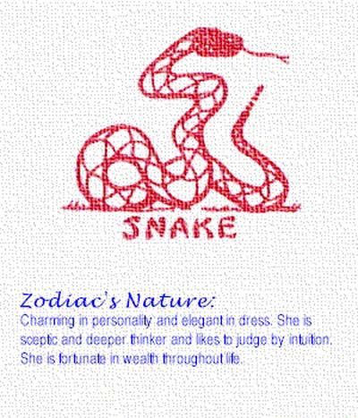 Snake Chinese zodiac sign