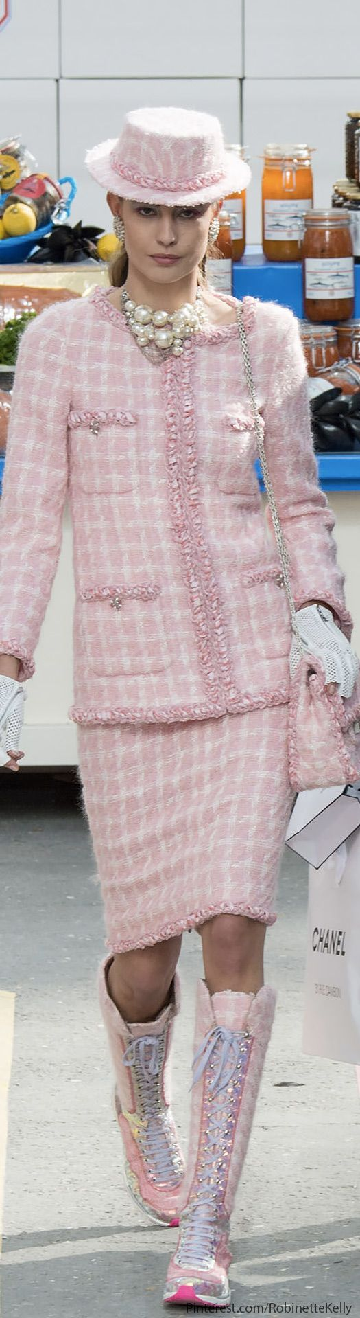 Chanel | F/W 2014 RTW…It may be Chanel, but she looks a bit dumpy!! Just saying'