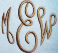 Embroidery Font Oval Set #146 Empire Monogram | Apex Embroidery Designs, Monogram Fonts & Alphabets