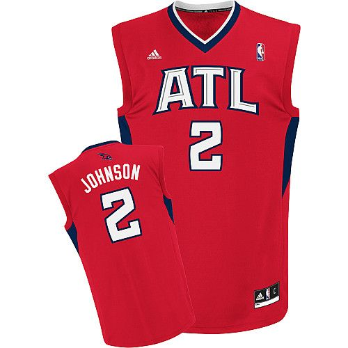 Atlanta Hawks Joe Johnson 2 Red Authentic Jersey Sale