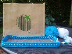 Krearette: AH tas omhaken en gemakkelijk patroon sjaal met mooie rand