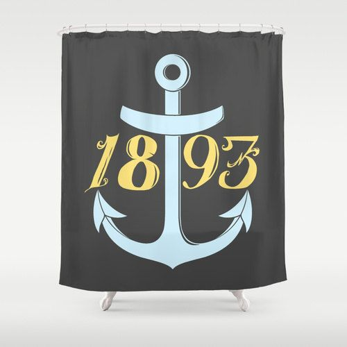 United States Navy Chief Anchor 1893 Shower Curtain by foreverwars on Etsy