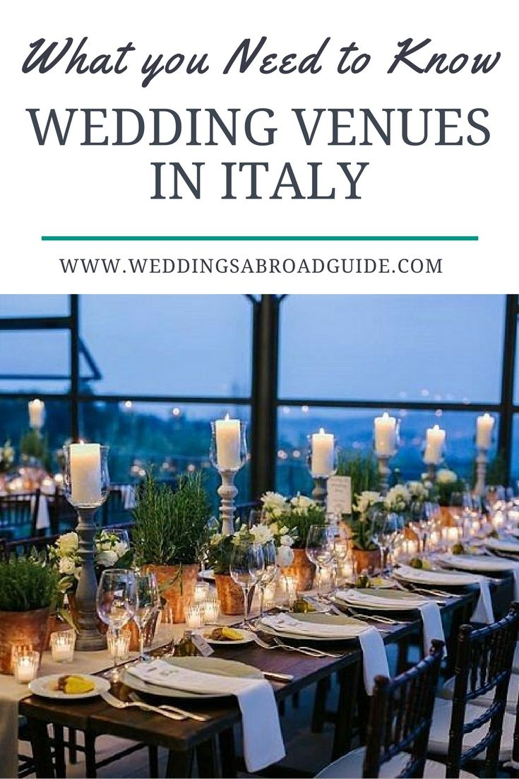 Cost of a Wedding Venue in Italy