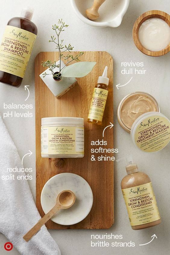 Restore dry, brittle, damaged hair with ONE collection! Jamaican Black Castor Oil contains a special blend of nourishing, natural, certified organic and ethically-sourced ingredients. Image: @Target .