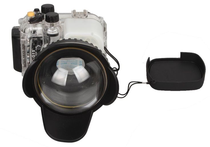 Meikon Underwater Diving Camera Waterproof Housing Case+Fisheye  For Canon G15 #MEIKON