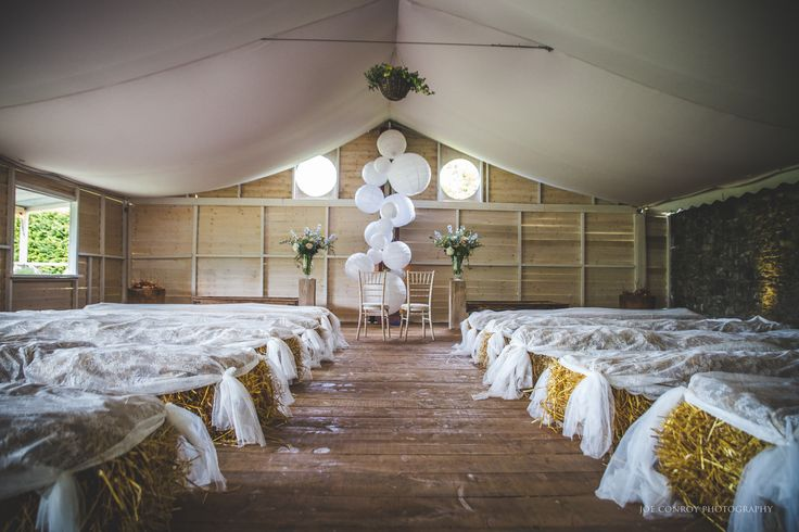 Our Tabernacle Barn here at Ballintubbert Gardens and House. It is a perfect location for an alternative and rustic humanist ceremony or drinks reception. Decor by Elk Event Stylist, Flowers by Bella Botanica, Photography by Joe Conroy Photography.