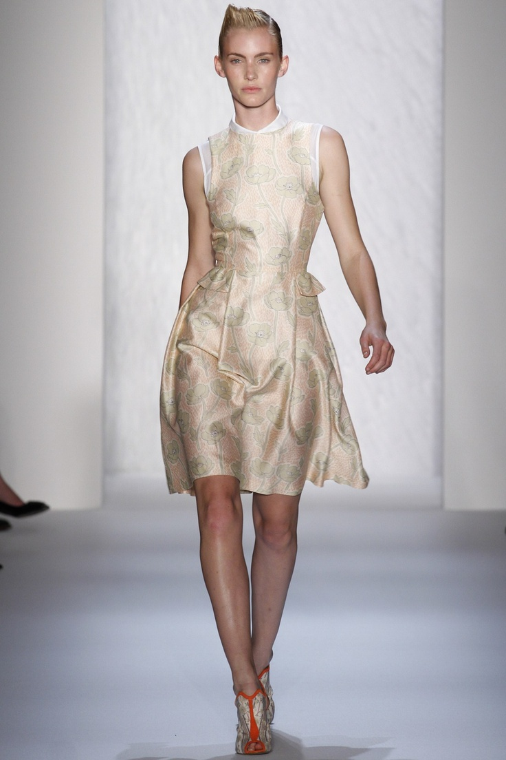 The fabric on this Suno dress is dreamy! #NYFW