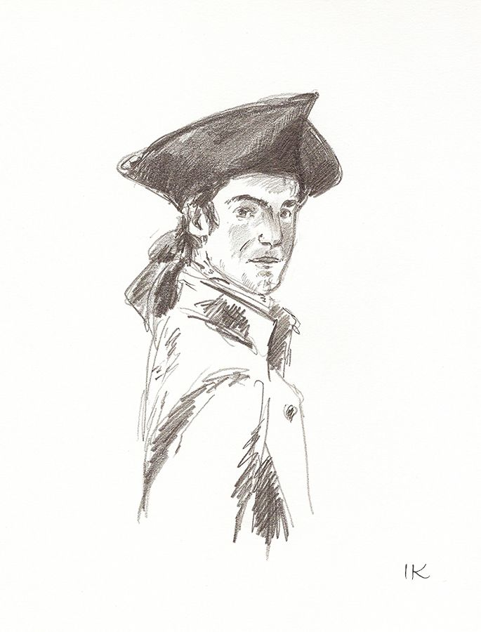 Portrait of a Man in a Tricorn Hat by Irina Korsakova.