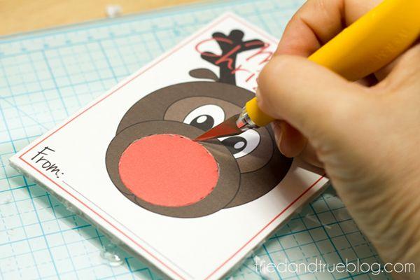 �Rudolph Christmas Gift� Free Printable