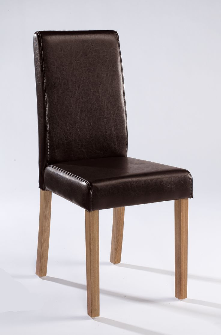 Oakridge Dining Chairs  Sleek and simple contrasting faux leather chairs with Oak coloured legs that come ready to assemble in boxes of 2. Available in Black; Brown; Red; Cream Dimensions: W415mm x D570mm x H960mm