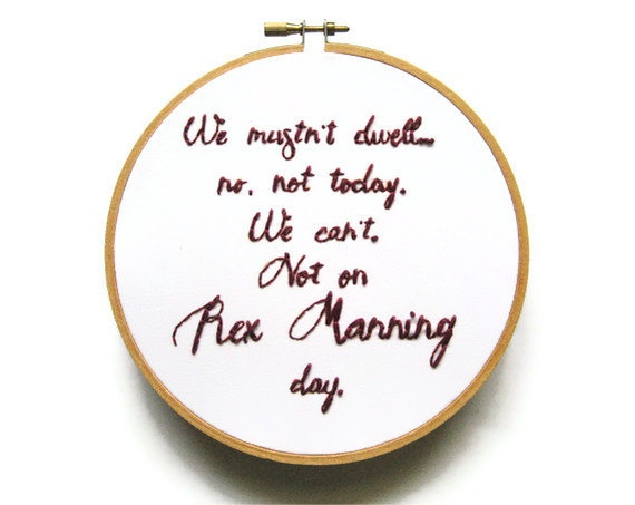 Rex Manning Embroidery Hoop Empire Records Movie by OooohStitchy, via Etsy.