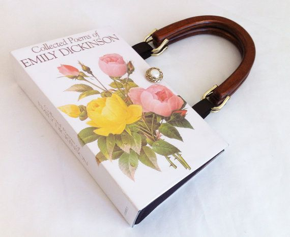 2. Recycled Book Cover Purse