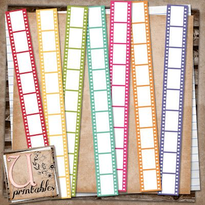 U printables by RebeccaB: FREE Printable - Coloured Film Strips