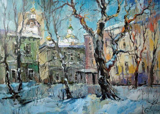 artist Charina Anna, Courtyard in Vishnyakovskaya Lane