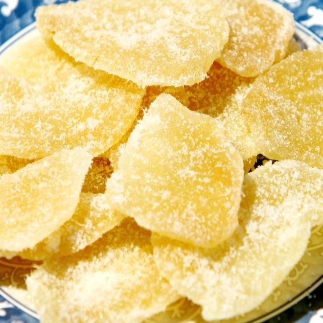 Jengibre cristalizado: saludable, práctico y muy sabroso