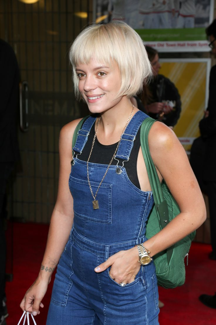 Lily Allen's new hair: a badass blonde version of Mathilda (Natalie Portman) in Léon, right?