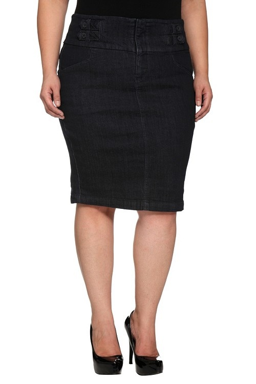 torrid denim rinse tab pencil skirt bottoms clothing