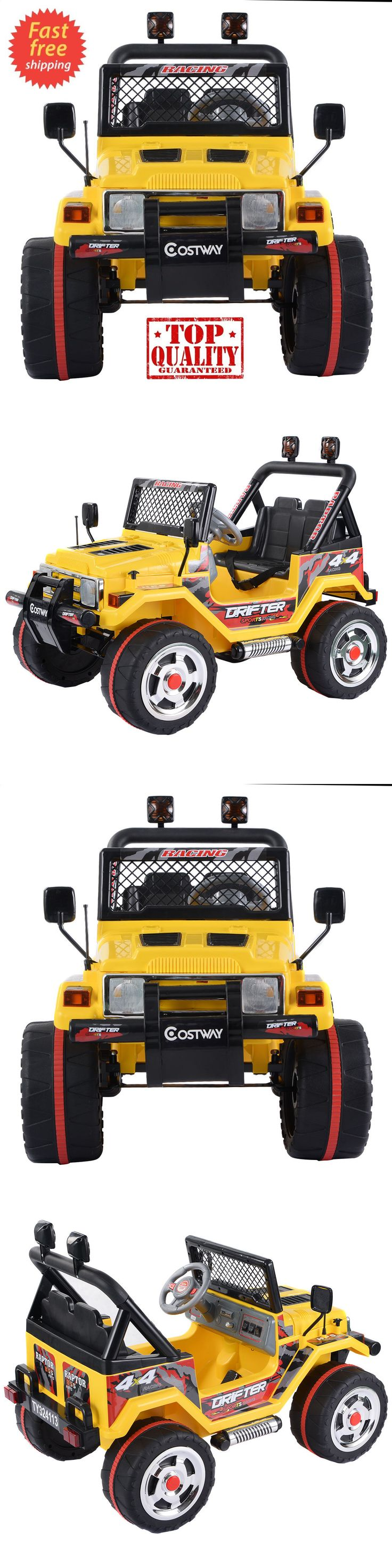 Ride On Toys and Accessories 145944: Ride On Car 12V Kids Power Wheels Jeep Truck Remote Control Rc Lights Music Mp3 -> BUY IT NOW ONLY: $265.01 on eBay!