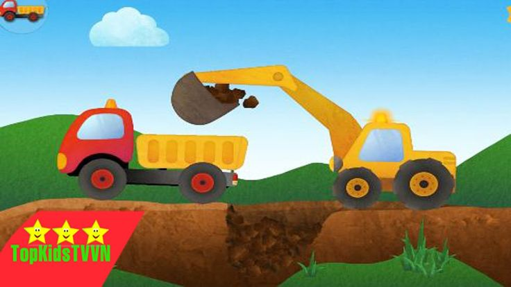 topkidstvvn-Máy xúc đất và xe tải làm việc sửa đường-Tony the Truck