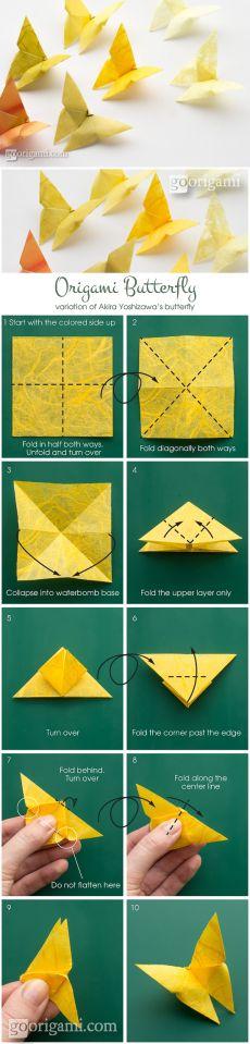 Origami Butterfly by Akira Yoshizawa - tutorial | Go Origami!