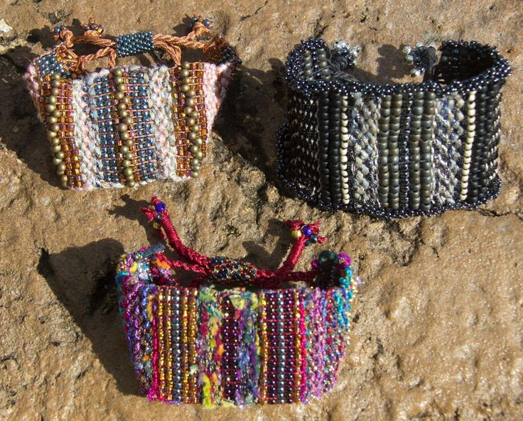 Weaving: Tapestry and bead bracelets
