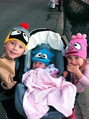 tori spelling's ADORABLE kids, Liam, Hattie and Stella