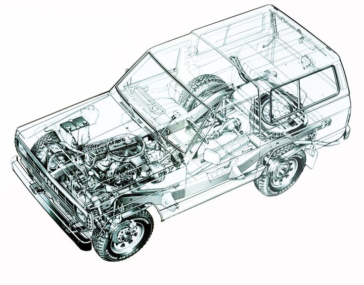 1983-1987 Nissan Patrol Hard Top (160) - Illustration unattributed