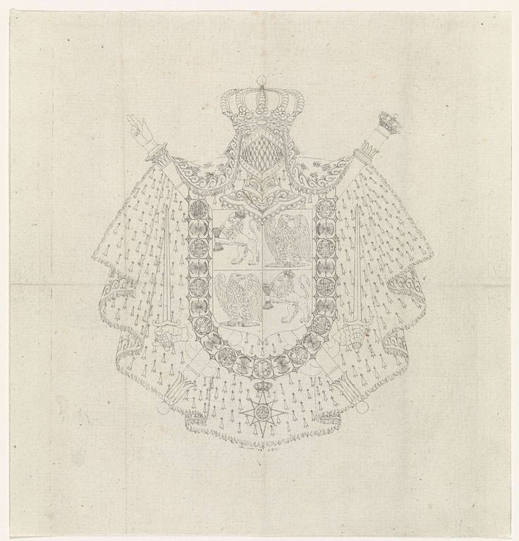 Ontwerp van het wapen van Lodewijk Napoleon, Alphonse Pierre Giraud, 1808