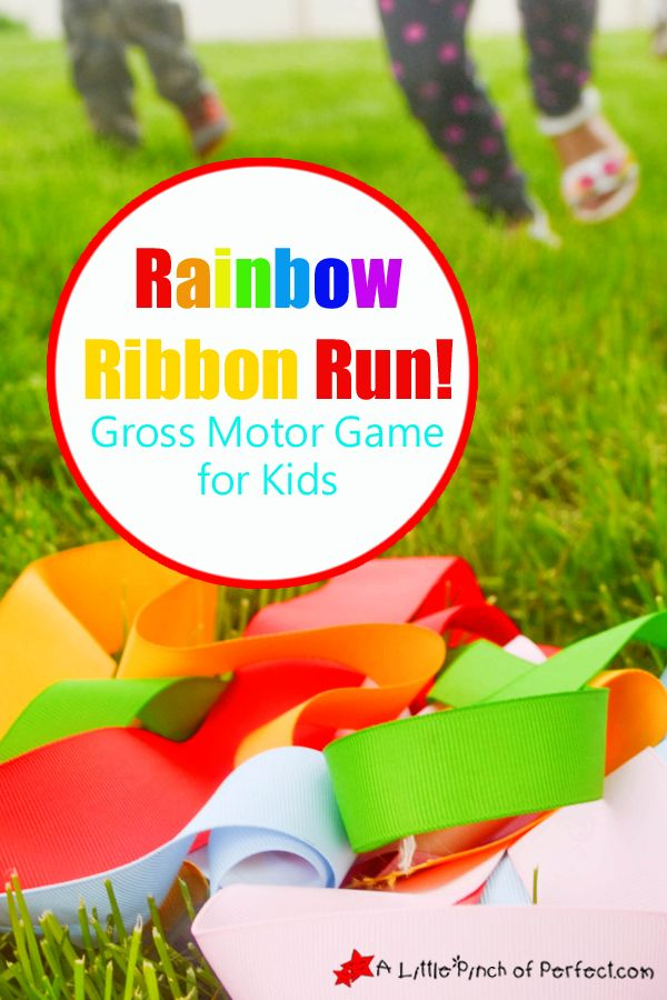 Rainbow Ribbon Run! Gross Motor Play for Kids | A Little Pinch of Perfect