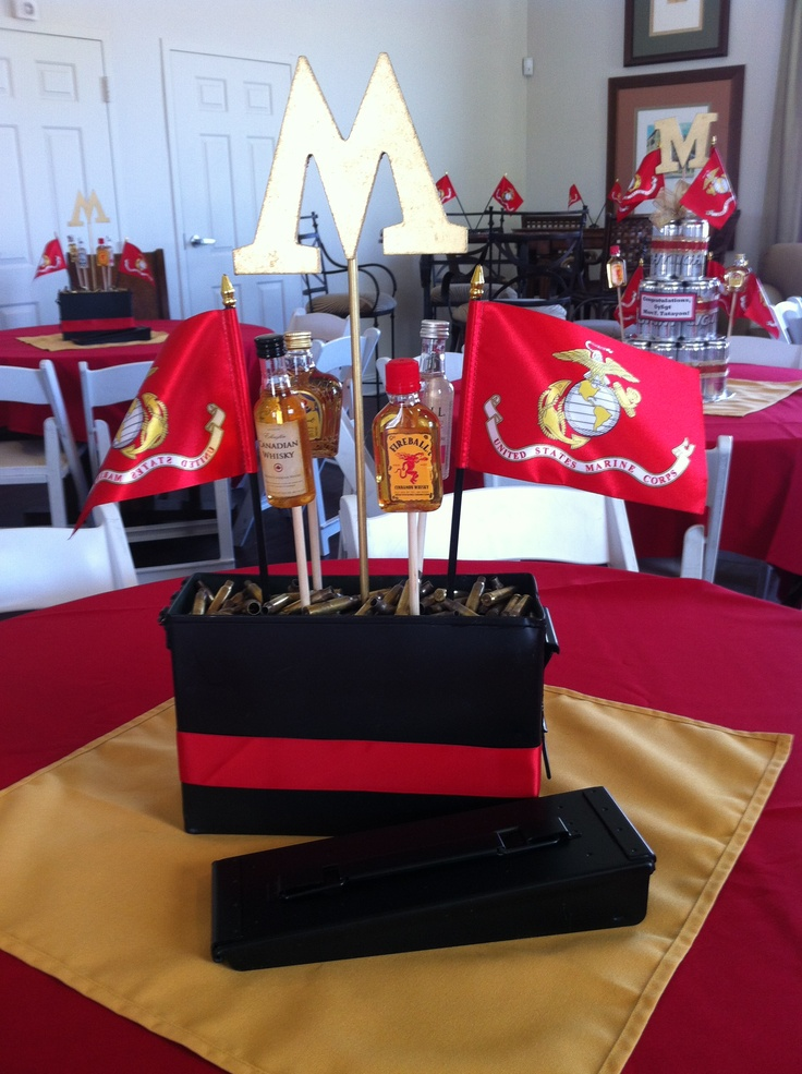 USMC Retirement party   but change to air force210 best MARINE GRADUATION PARTY IDEAS images on Pinterest  . Marine Corps Themed Room. Home Design Ideas