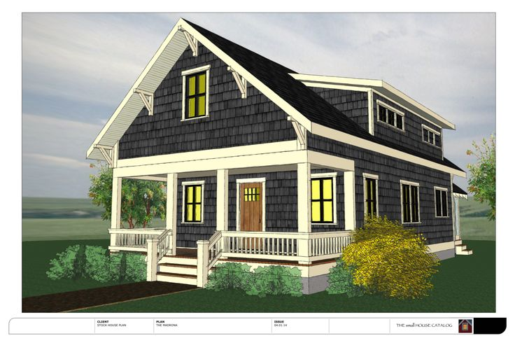 Tiny Home Designs: The Madrona (Free) From THE Small HOUSE CATALOG. 1300 Sq