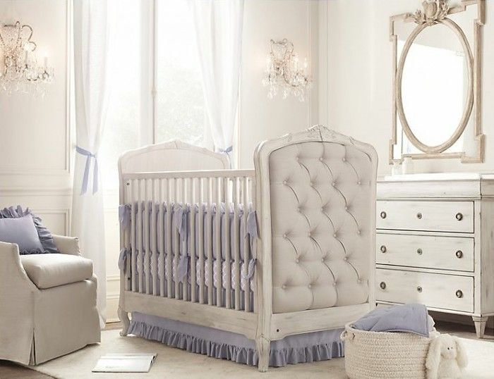 This Crib is luxury at it;s finest.  Pink or white bedding.