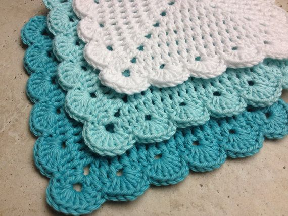 Crochet Granny Square Dishcloth Pattern : 17 Best images about Crochet Kitchen Cloths, Etc on ...
