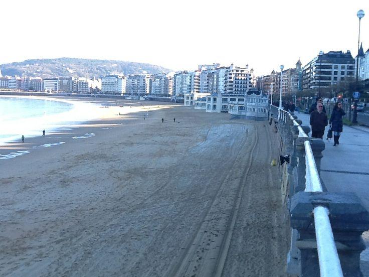 Balneario La perla,en la playa de la Concha.