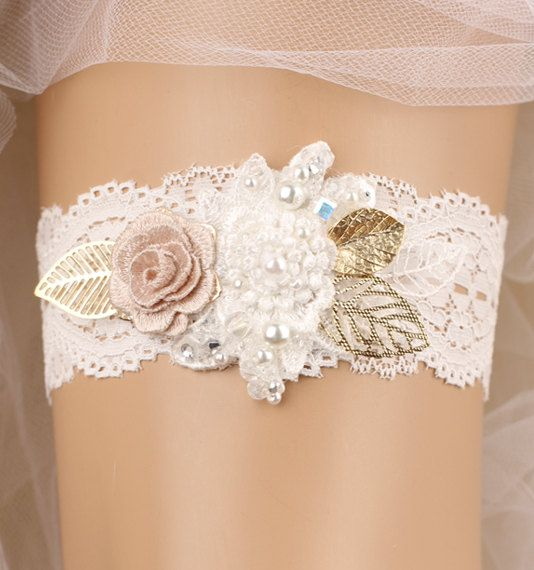 Strumpfband Hochzeit Braut Strumpfband Spitze von GadaByGrace