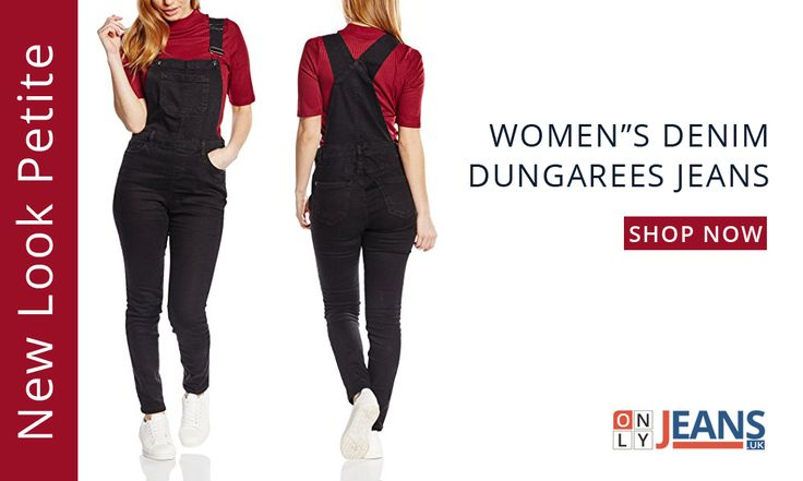 Get the ultimate in throwback fashion with New Look Petite Women's Denim Dungaree Jeans!  #NewLook #DungareeJeans #WomensJeans #Fashion #Shopping #Beautiful #Love #Followme #Girl #OnlyJeans