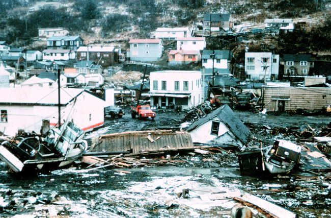 1964 alaska earthquake kodiak | ... damage at Kodiak, Alaska, following the 1964 Good Friday earthquake