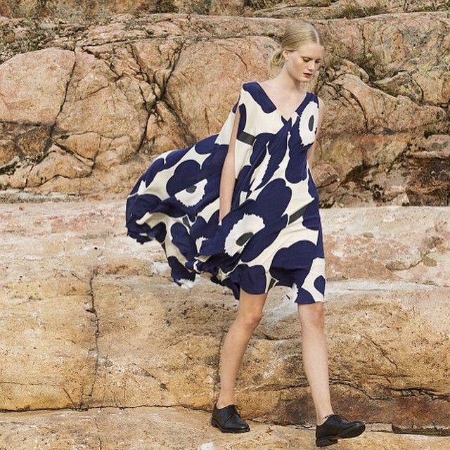 Stepping out on a Saturday like... // #marimekko #marimekkolife #ss15 // Unikko dress