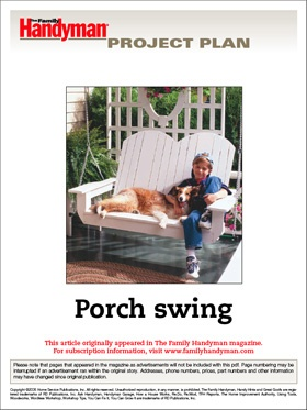 Old Fashioned Porch Swing Plans...Ice tea + a good book + swing = Happy Summer!