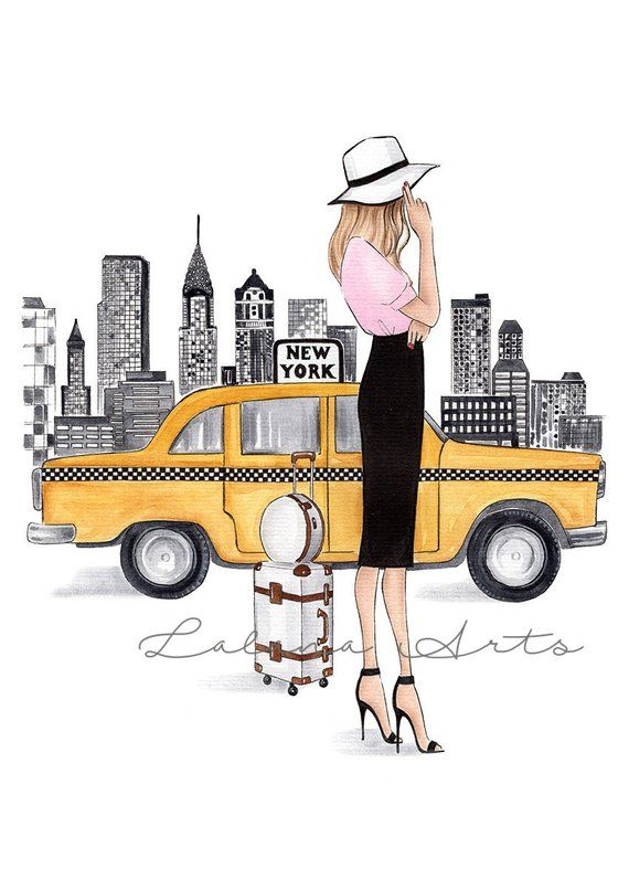 New York print New York art Fashion Illustration New York wall art Fashion wall art New York Poster NYC art Watercolor fashion Fashionista