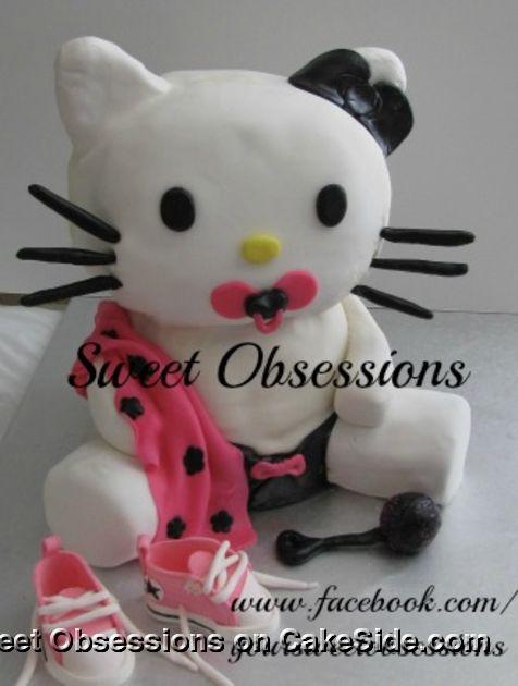 Baby Hello Kitty by Cassandra Molina on www.cakeside.com!