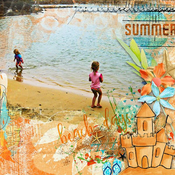 BEACH DAYS - digital layout by Ona (aka wombat146) Created with Beachscape {kit} by Little Butterfly Wings at The Lilypad (collab with Studio Basics) http://the-lilypad.com/store/Beachscape-kit.html