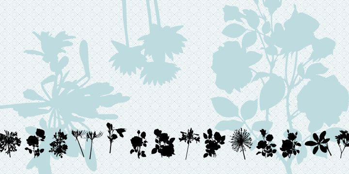 Free flower shape dingbats