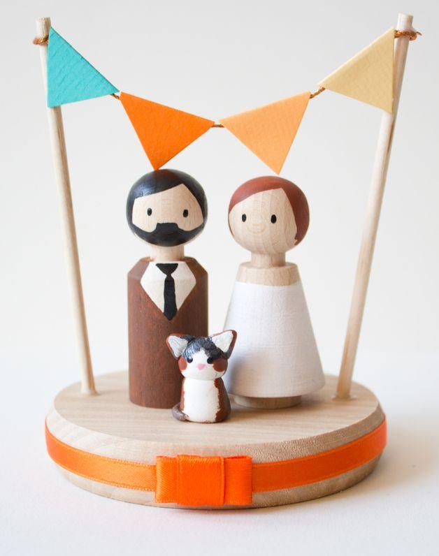 Украшения для свадебного торта/Cake Topper mini MIT Haustier