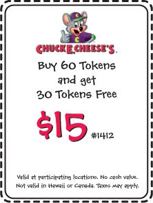 Chuck E Cheese Tokens Coupons No Expiration #coupons #chuckecheese www.chachingqueen.com