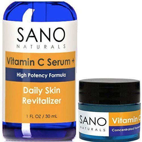 Vitamin C, E And Hyalouronic Acid Skin Anti Aging Wrinkles Serum + Eye Cream New #VitaminC
