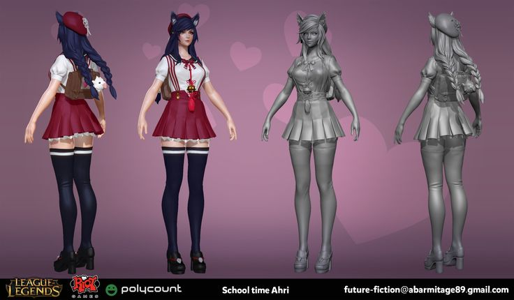 ArtStation - School time Ahri, Blair Armitage