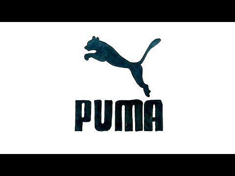 How to Draw the Puma Logo   Drawings Tekenen