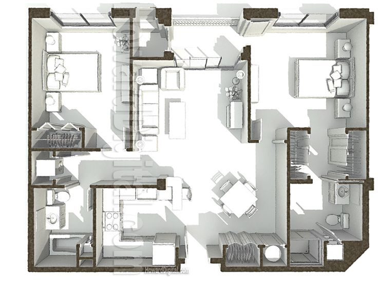 House Illustration PCI Dorm Floor Plan 2 home series
